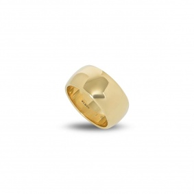 18k Yellow Gold 8mm Traditional Court Wedding Band